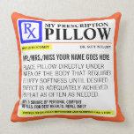 Funny Prescription Label Pillows