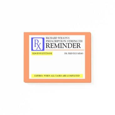 reflections06 Funny Prescription Label Post-it Notes