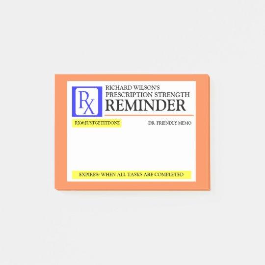 post it labels templates - funny prescription label post it notes zazzle