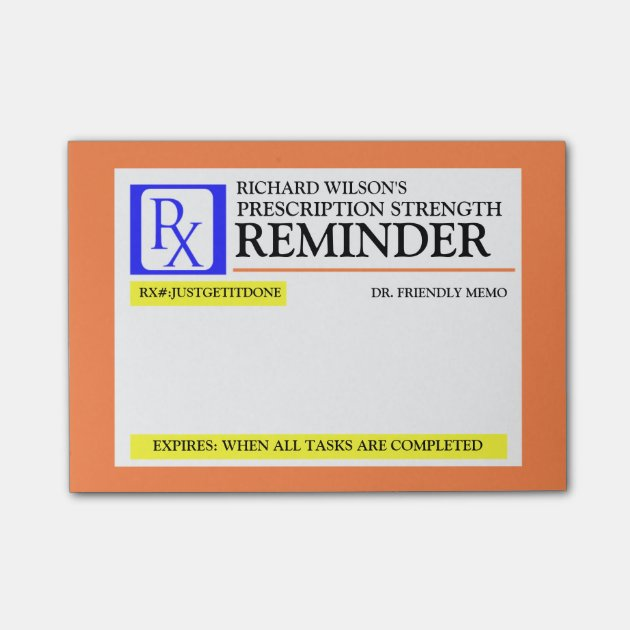 Funny Prescription Label Post-it® Notes | Zazzle