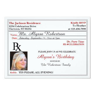 Funny Prescription Party Invitations
