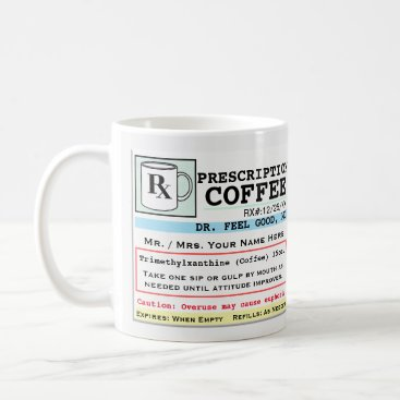 rxmugs Funny Prescription RX Coffee Mug