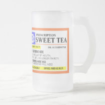 Funny Prescription Sweet Tea Frosted Mug