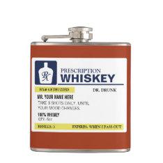 Funny Prescription Whiskey Flask at Zazzle