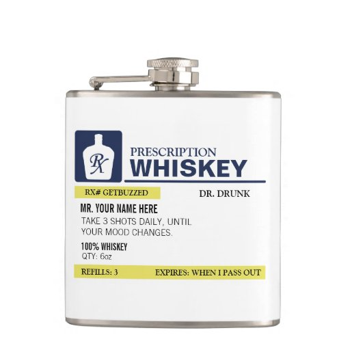 Funny Prescription Whiskey Flasks