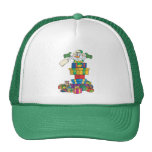 Funny Present stack sowman cartoon Trucker Hat