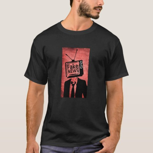 Funny President Donald Trump Fake News Funny Trump T_Shirt