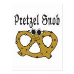 Funny Pretzel Snob Postcard