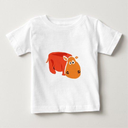 Funny Primitive Art Hippo Baby T-Shirt