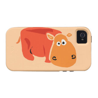 Funny Primitive Art Hippo iPhone 4/4S Cases