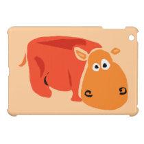 Funny Primitive Art Hippo Case For The iPad Mini