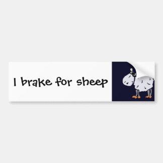 Funny Primitive Art Sheep Bumper Sticker