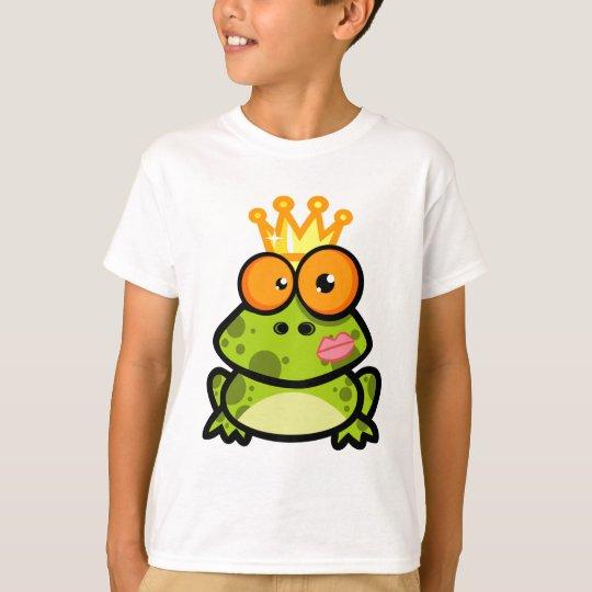 FUNNY PRINCE FROG CARTOON bulgy eyeballs crown T-Shirt