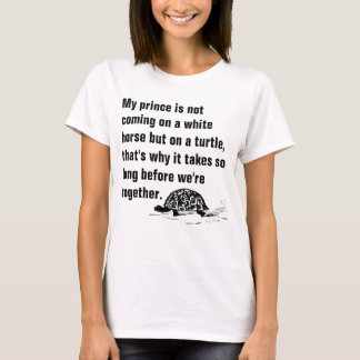 Funny Prince on a Turtle Ladies T-shirt