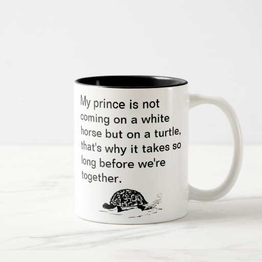 Funny Prince on a Turtle Mugs