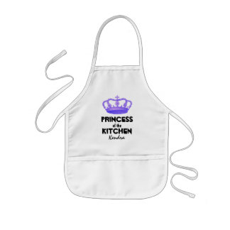 Funny Princess of the Kitchen Crown Custom Name A1 Kids' Apron