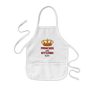 Funny Princess of the Kitchen Crown Custom Name A2 Kids' Apron