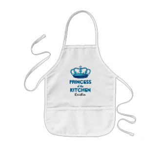 Funny Princess of the Kitchen Crown Custom Name A3 Kids' Apron