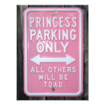 Funny Princess Parking Only sign