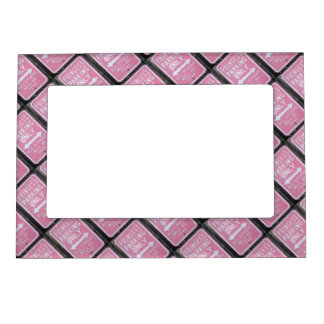 Funny Princess Parking Only sign Magnetic Picture Frame