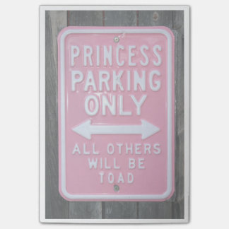 Funny Princess Parking Only sign Post-it® Notes