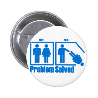 Funny Problem Solved Man 2 Inch Round Button