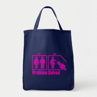 Funny Problem Solved Woman Tote Bag