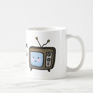 Funny Procrastinator Denial Saying and TV Set Classic White Coffee Mug