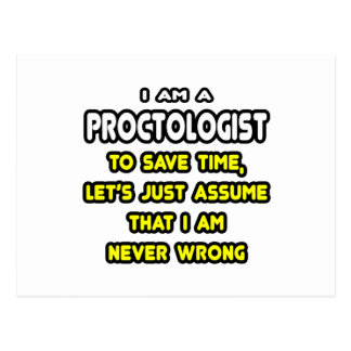 Funny Proctologist T-Shirts and Gifts Postcard
