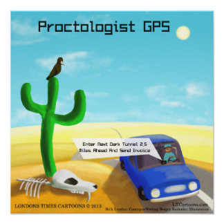 Funny Proctology GPS Poster