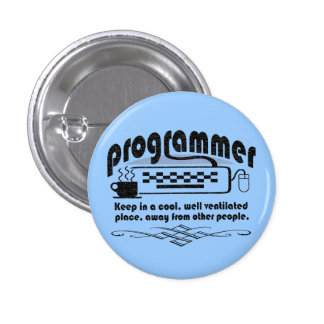 Funny Programmer 1 Inch Round Button