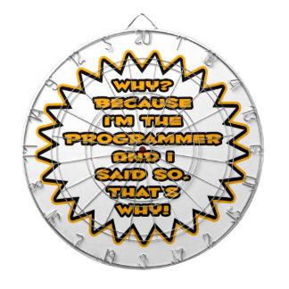 Funny Programmer ... Because I Said So Dartboard