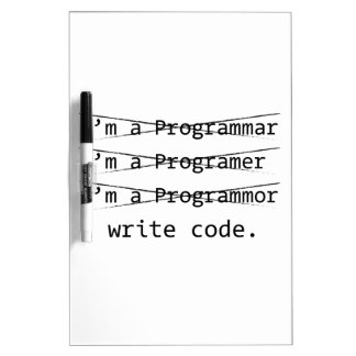 Funny Programmer Dry-Erase Board