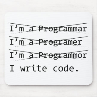 Funny Programmer Mouse Pad