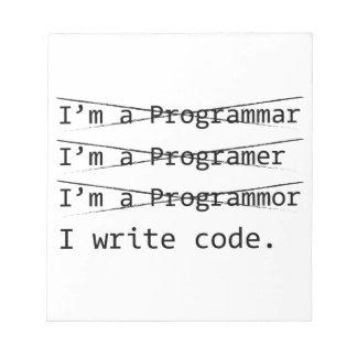 Funny Programmer Notepad