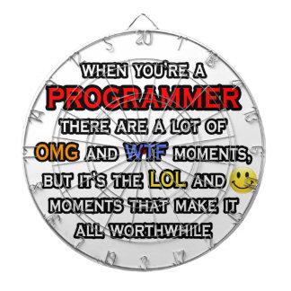Funny Programmer ... OMG WTF LOL Dartboard With Darts