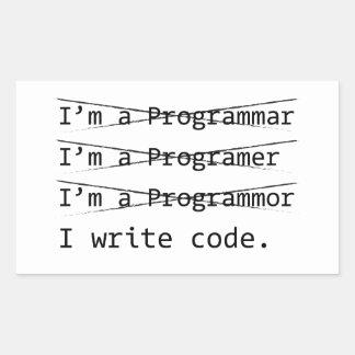 Funny Programmer Rectangular Sticker