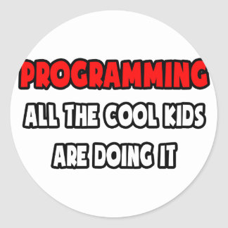 Funny Programmer Shirts and Gifts Classic Round Sticker