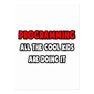 Funny Programmer Shirts and Gifts Postcard