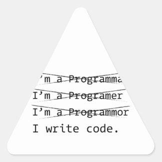 Funny Programmer Triangle Sticker