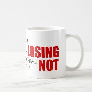 Funny Project Management Saying Losing Head Coffee Mug