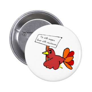 Funny Protesting Thanksgiving Turkey Button