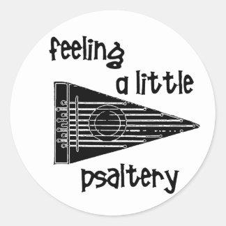 Funny Psaltery Classic Round Sticker