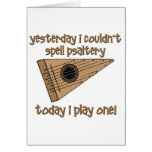 funny psaltery greeting card