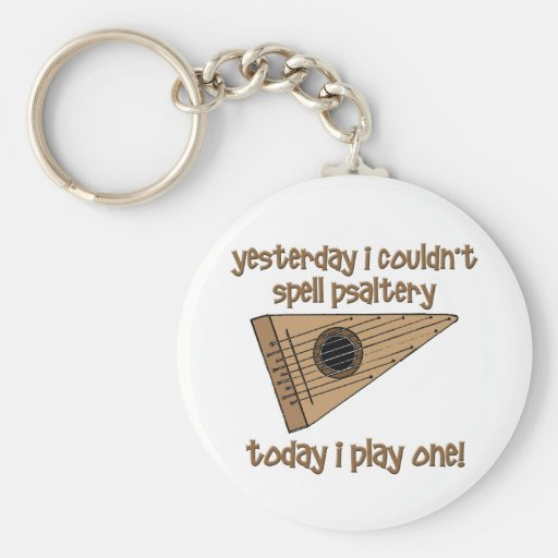 funny psaltery keychains