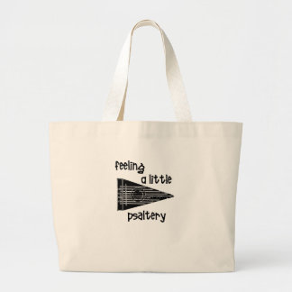 Funny Psaltery Large Tote Bag