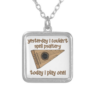 funny psaltery square pendant necklace