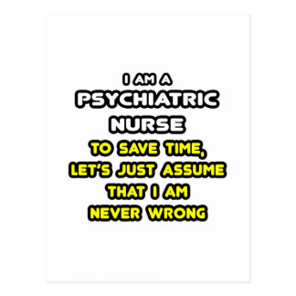 Funny Psychiatric Nurse T-Shirts and Gifts Postcard