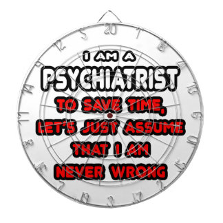 Funny Psychiatrist T-Shirts and Gifts Dartboard