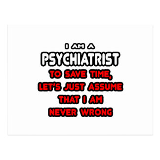 Funny Psychiatrist T-Shirts and Gifts Postcard